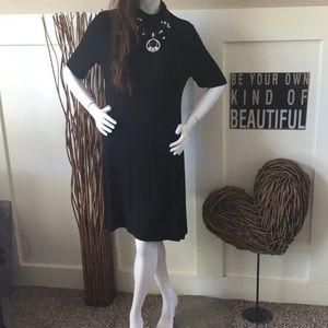 Apt. 9 black mock turtleneck swing dress